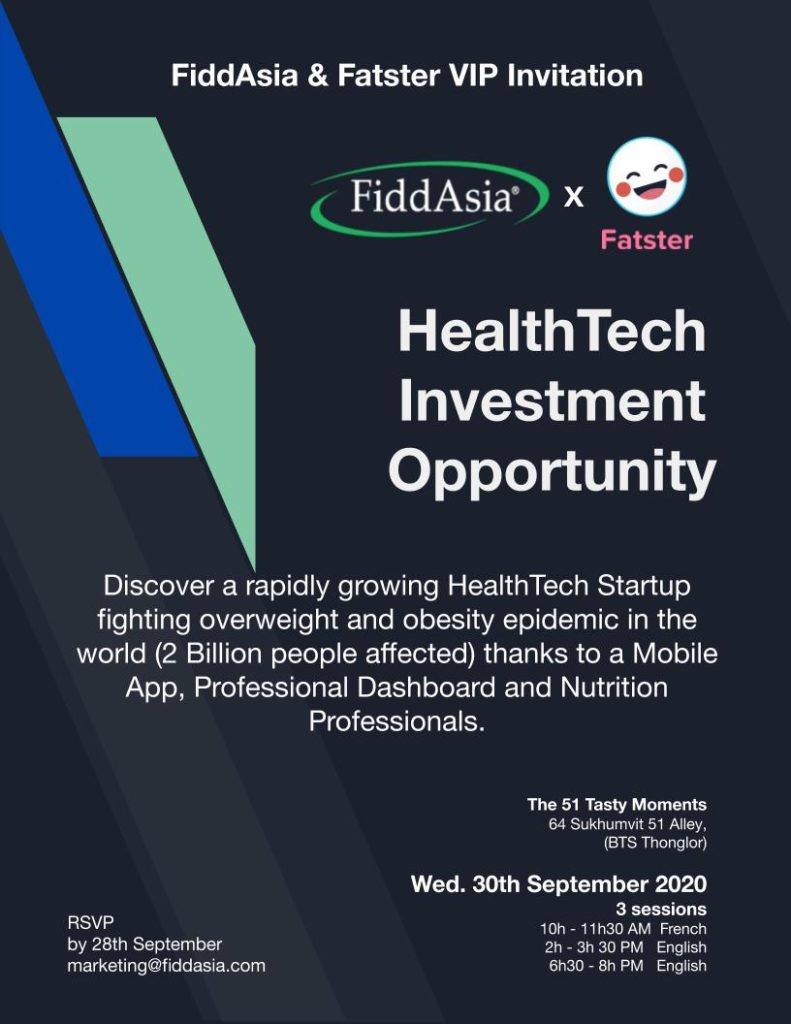 FiddAsia x Fatster present : The highly recommended Health Tech Investment Opportunity.